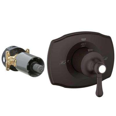 Authentic Single Handle GrohFlex Thermostatic Valve Trim Kit in Oil Rubbed Bronze (Valve Sold Separately)