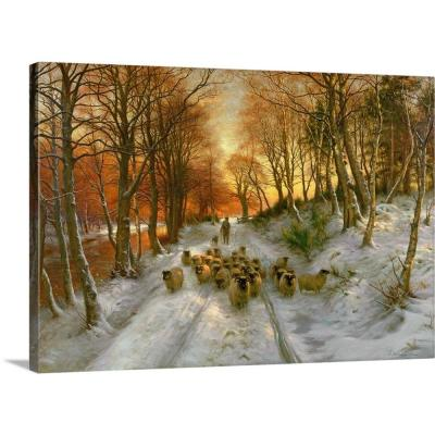 """36 in. x 24 in. """"Glowed with Tints of Evening Hours"""" by  Joseph Farquharson Canvas Wall Art"""