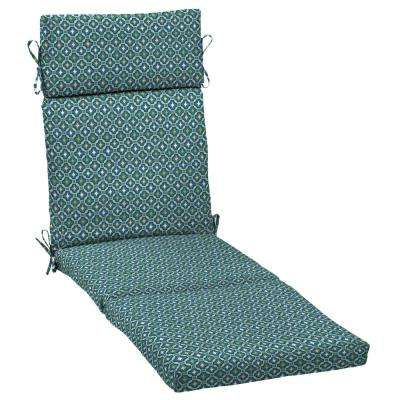 21 in. x 42.5 in. Alana Tile Outdoor Chaise Lounge Cushion