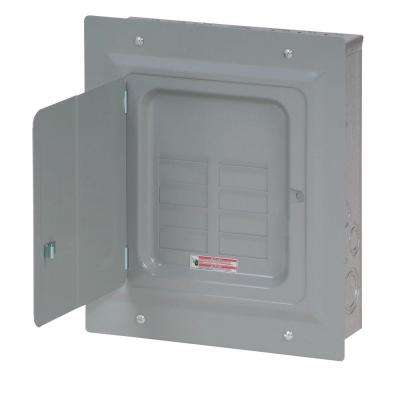 BR 125 Amp 8-Space 16-Circuit Indoor Main Lug Loadcenter with Flush Door
