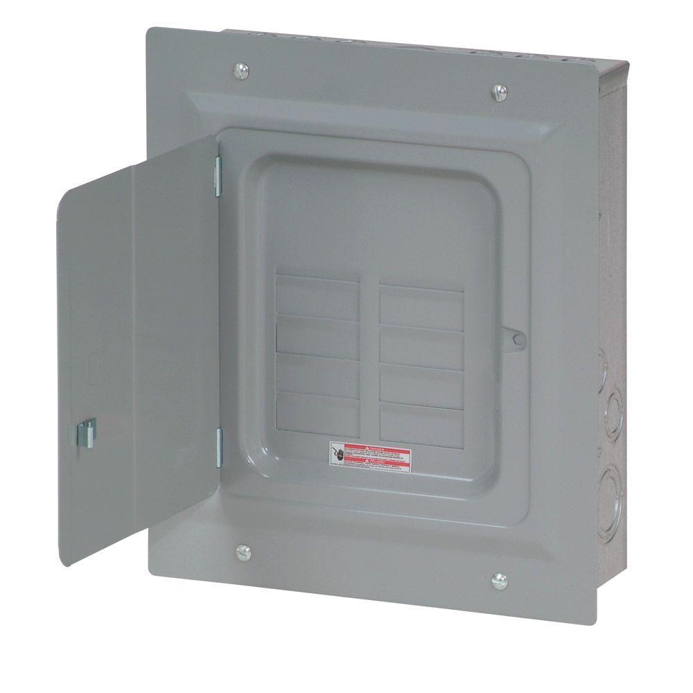 BR 125 Amp 8-Space 16-Circuit Indoor Main Lug Loadcenter with Flush Door
