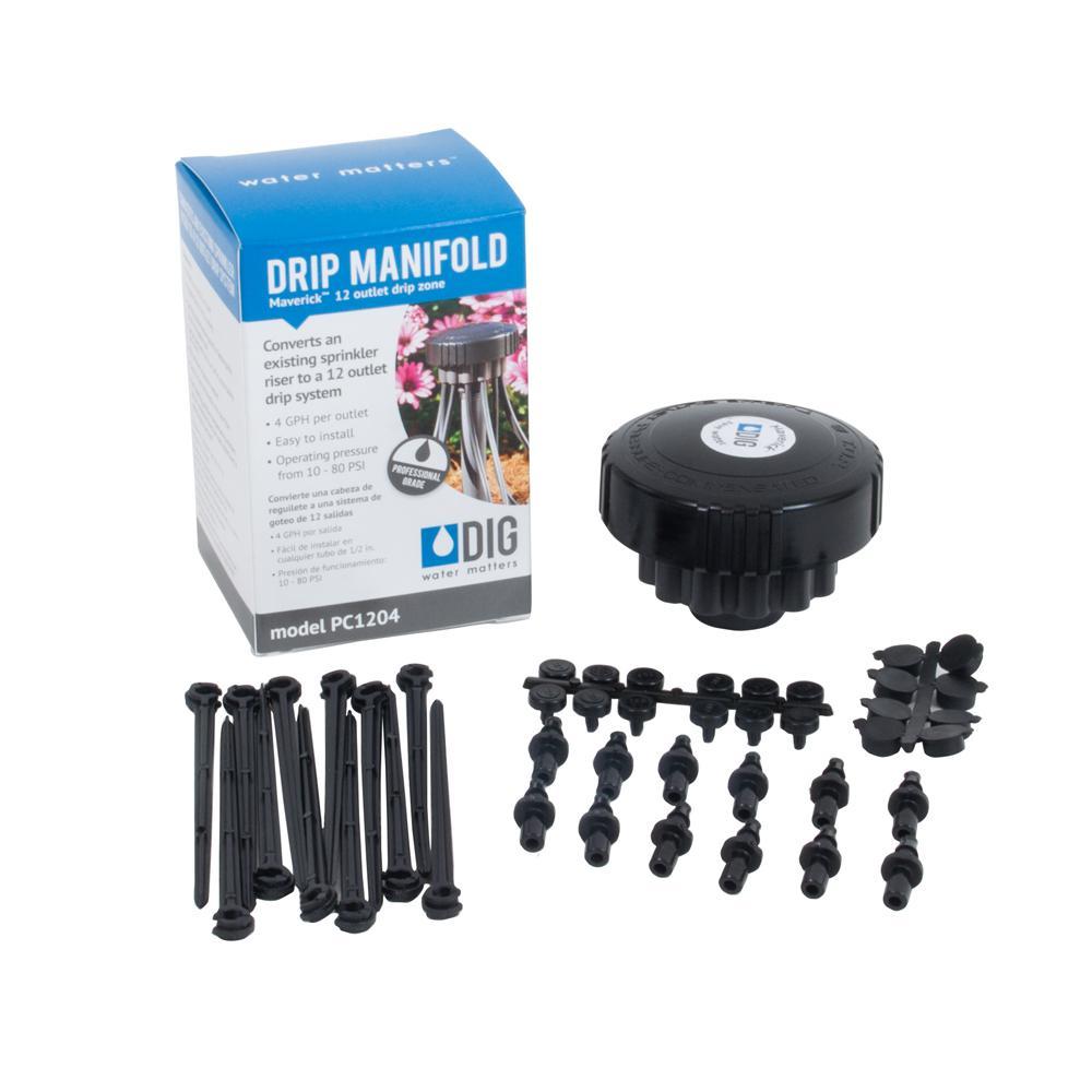 DIG Maverick 4 GPH 12-Outlet Drip Manifold