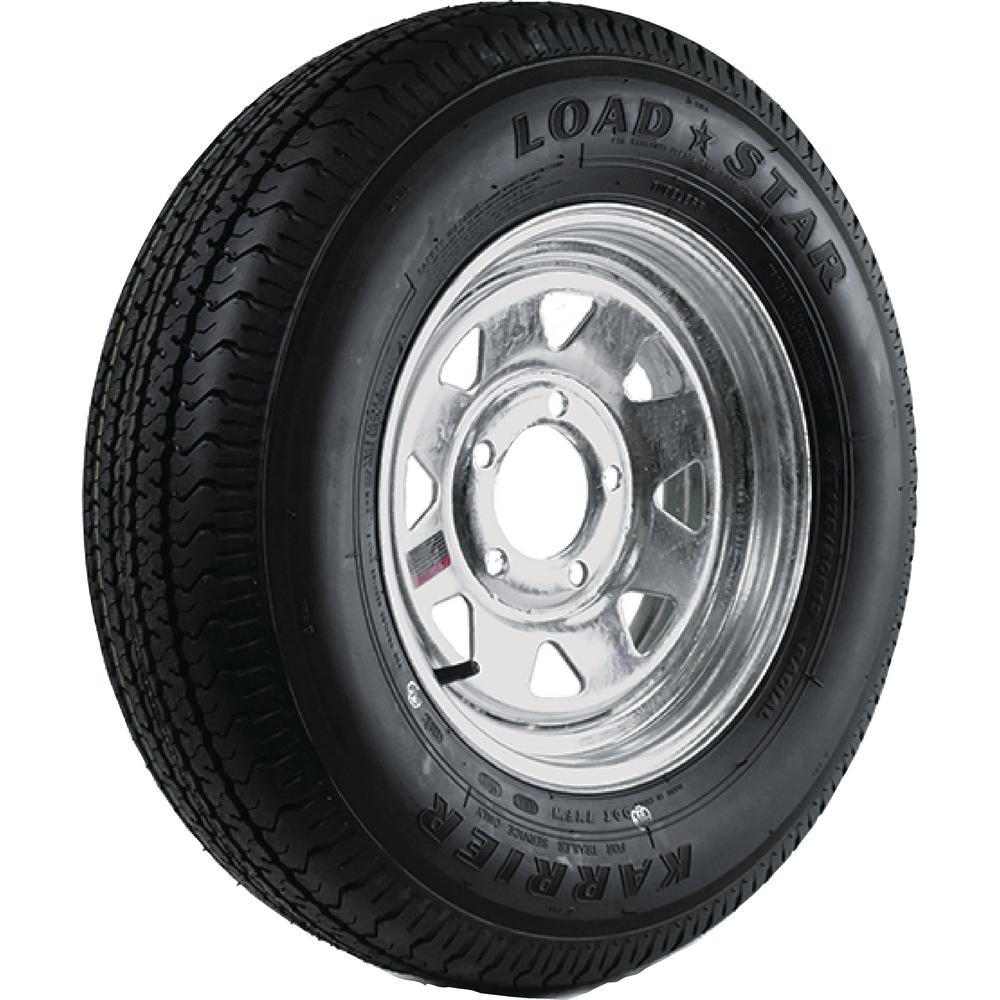Loadstar 2040 lb. Load Capacity White Eight Spoke Steel Wheel Rim by Loadstar