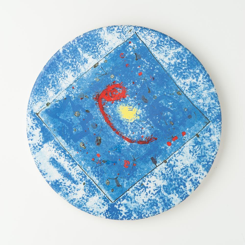 Metropolitan Barcelona Ceramic Cheese Plate