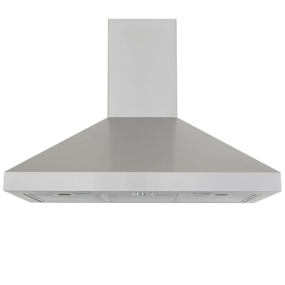 Windster 36 in. Wall Mount Range Hood in Stainless Steel ...