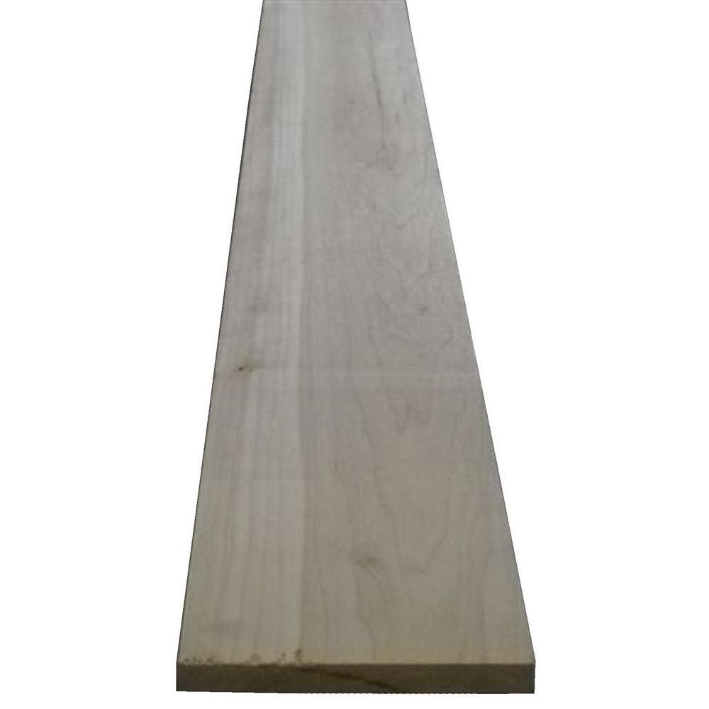 null 1 in. x 6 in. x Random Length S4S Poplar Board