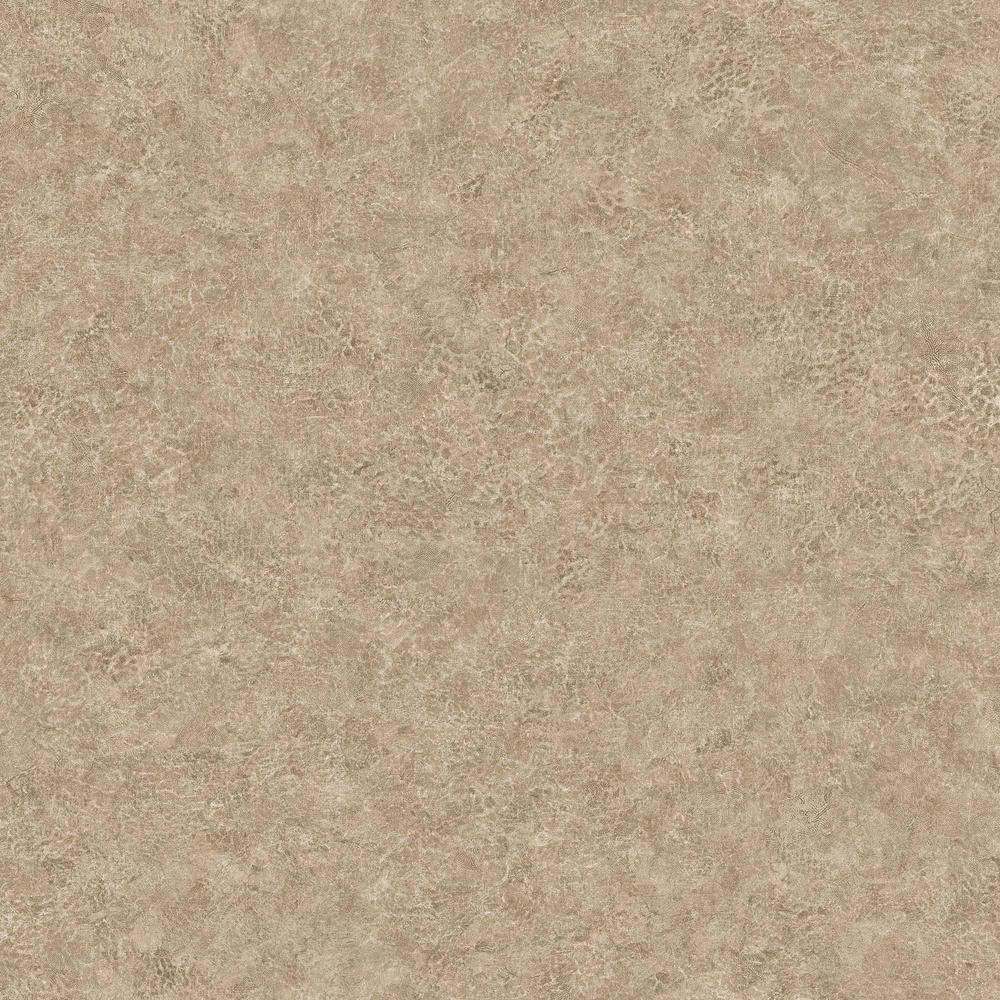 Roma Leather Walnut Cliffscape Embossed Vinyl Wallpaper