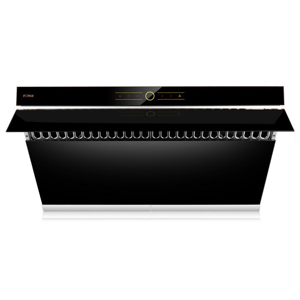 V Series 36 in. 500 CFM Side Draft Air Filtration Under Cabinet or Wall Mount Range Hood in Onyx Black