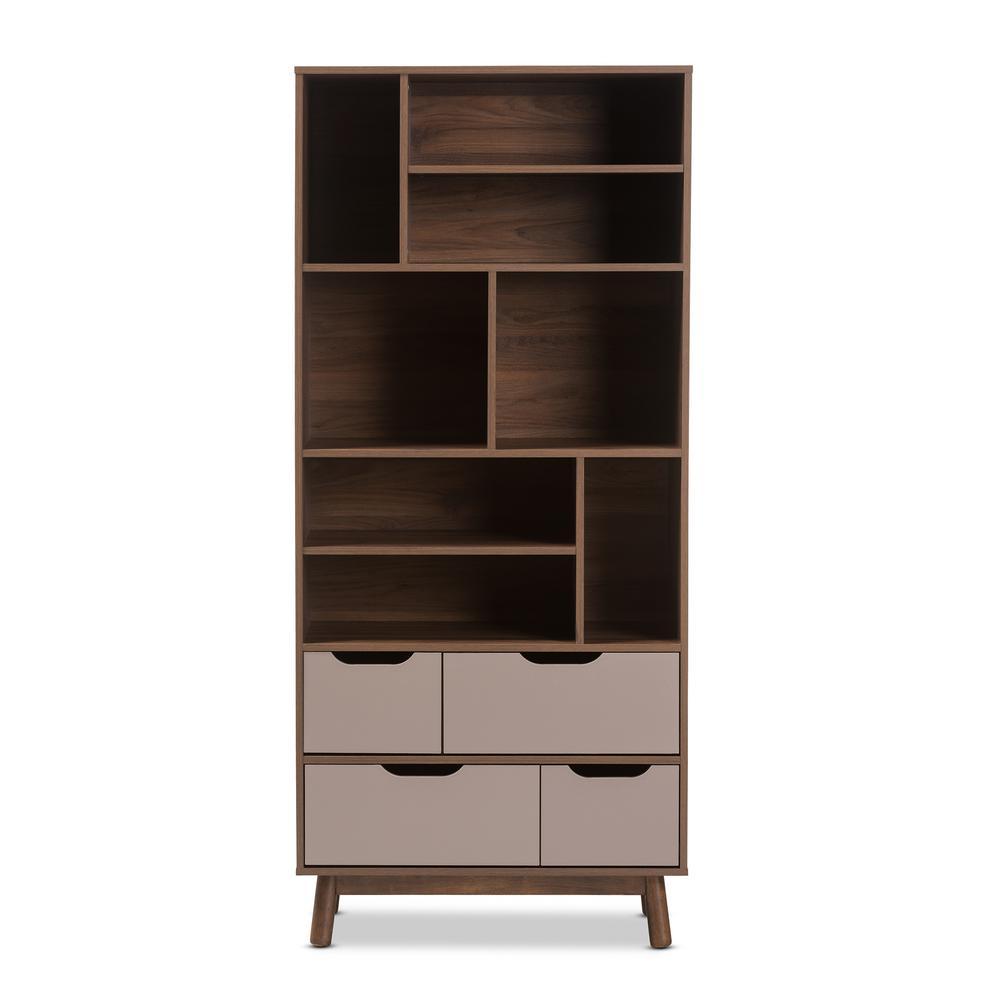 Baxton Studio Britta Brown/Grey Shelf 28862-7995-HD
