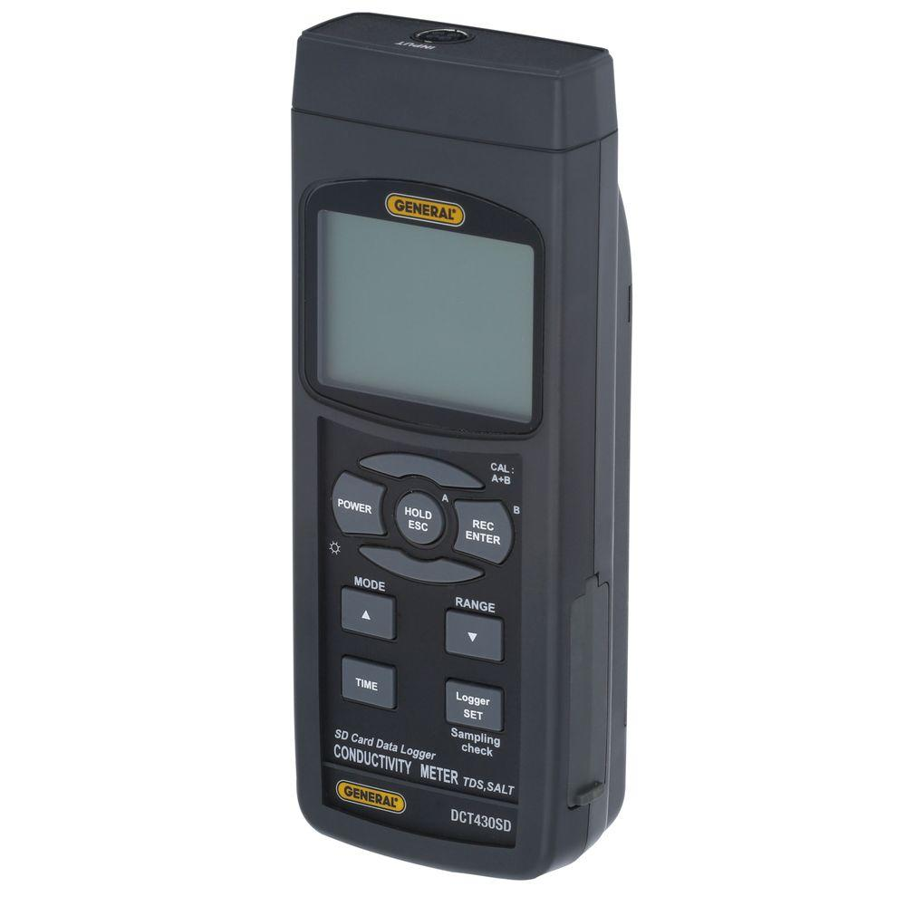 General Tools Data Logging Conductivity/TDS Meter with 2GB SD Card