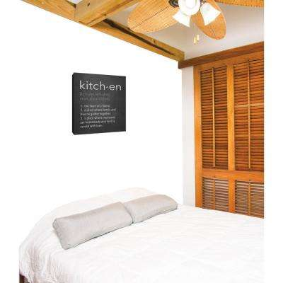 """12 in. x 10 in. """"Kitch.en II'' By PTM Images Printed Canvas Wall Art"""