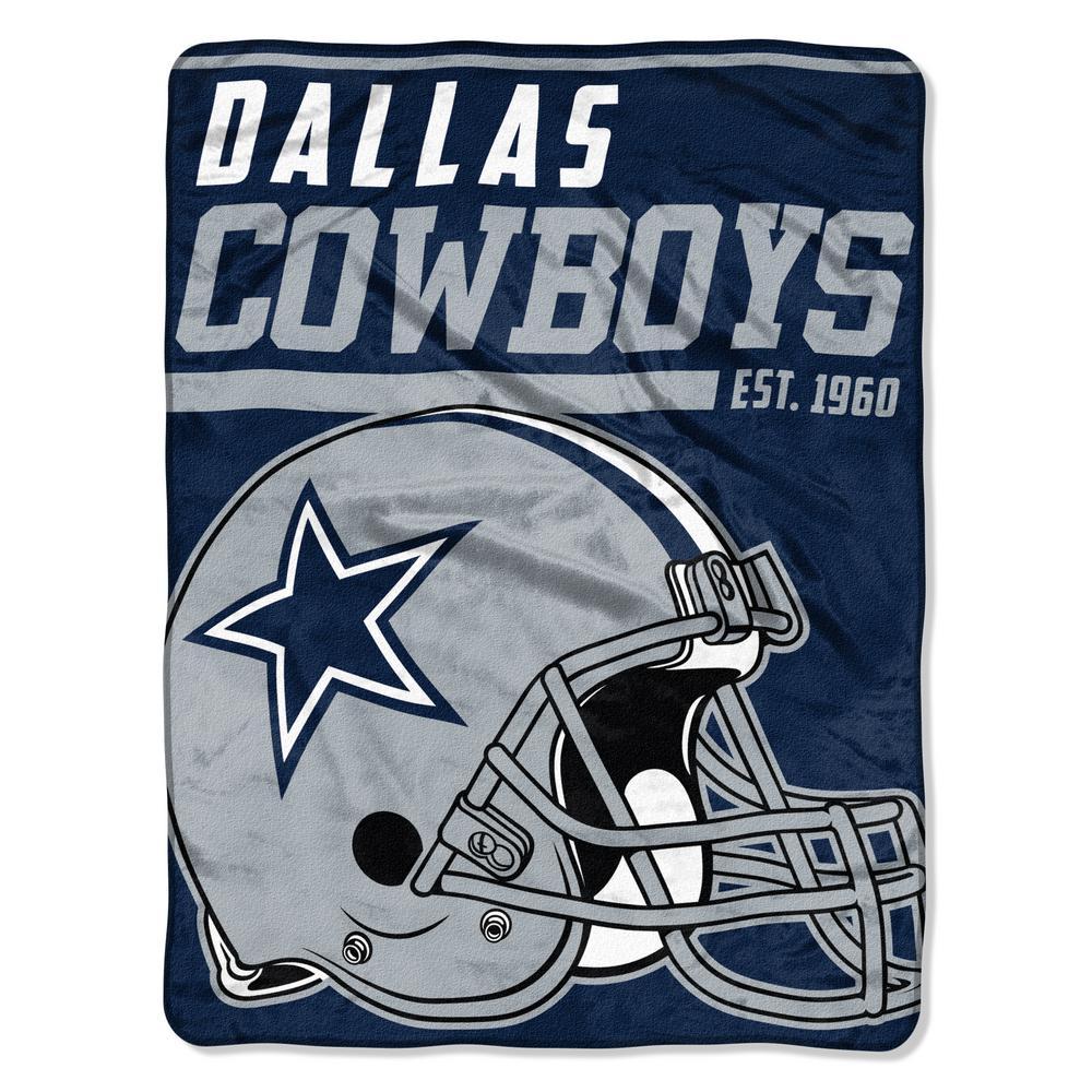 Cowboys Multi Color Polyester 40 yds Dash Micro Blanket