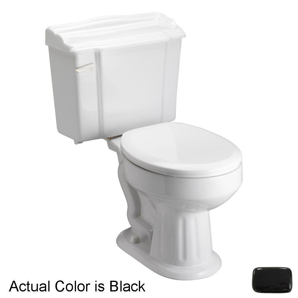 Pegasus Victoria 2-Piece 1.6 GPF Round Toilet in Black-DISCONTINUED