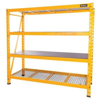 72 in. H x 77 in. W x 24 in. D 4-  sc 1 st  The Home Depot & Metal - Garage Storage Shelves - Garage Shelves u0026 Racks - The Home Depot