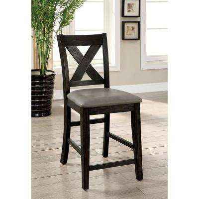 Lana Rustic Dark Walnut Style Counter Height Chair