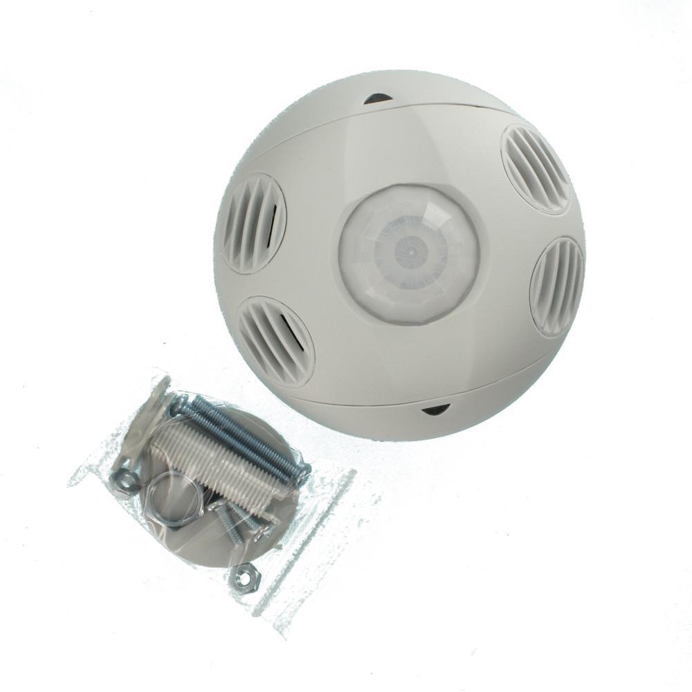 Leviton Ceiling Mount Occupancy Motion Sensor White Osc10 M0w The Home Depot