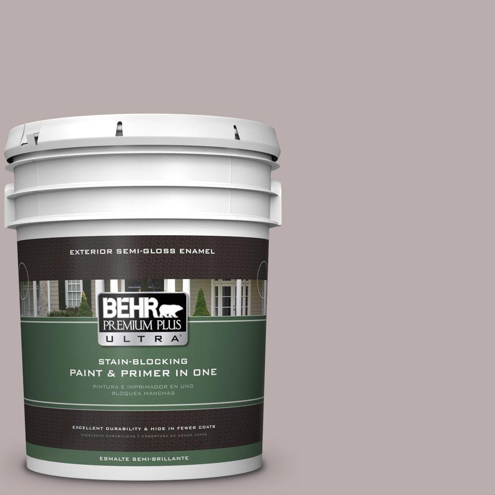5-gal. #PPU17-11 Vintage Mauve Semi-Gloss Enamel Exterior Paint