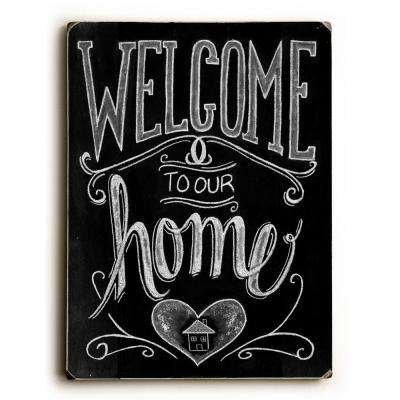 "9 in. x 12 in. ""Welcome"" by Robin Frost Solid Wood Wall Art"