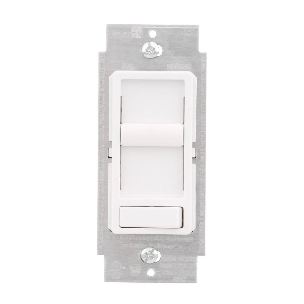sureslide universal 150watt led and cfl/600watt incandescent dimmer white