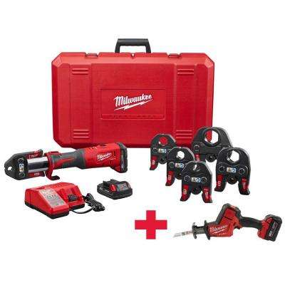 M18 18-Volt Lithium-Ion FORCE LOGIC Brushless Cordless Press Tool Kit (6 Jaws Included) W/Free M18 FUEL Hackzall