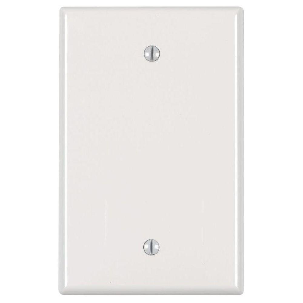Leviton Leviton 1-Gang Midway Blank Nylon Wall Plate, White (10-Pack)