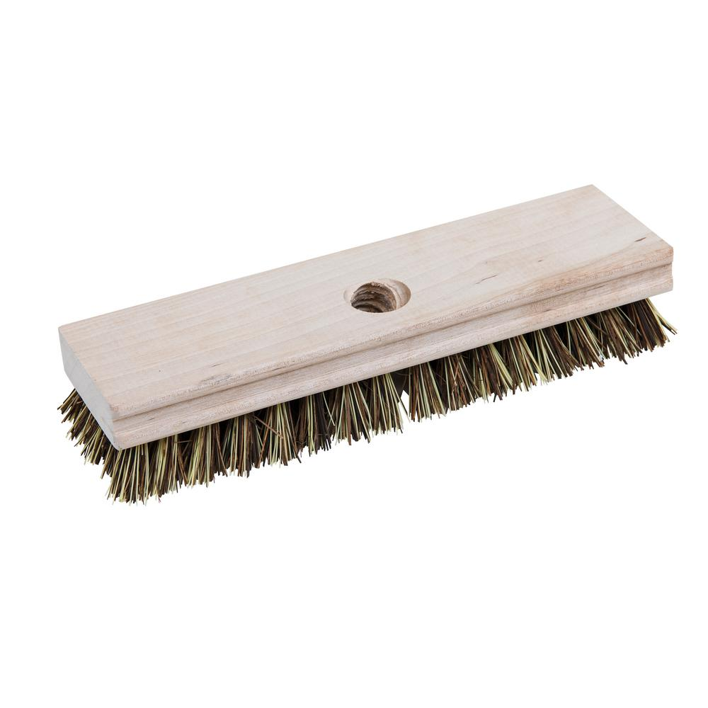 Quickie Professional Wood Block Deck Scrub Brush-223TCNRM - The Home ...