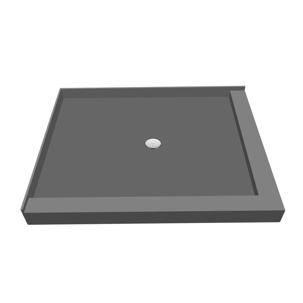48 in. x 60 in. Double Threshold Shower Base with Center