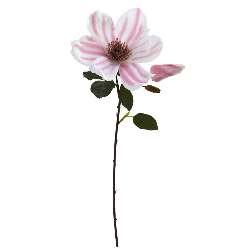 Indoor 17 in. Magnolia Artificial Flower (Set of 18)
