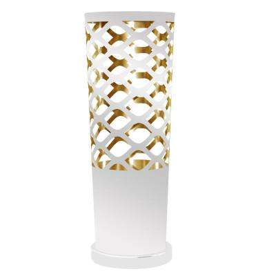 21 in. White on Gold Table Lamp