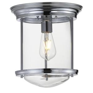 Savannah 10.25 in. Chrome Metal/Glass LED Flush Mount