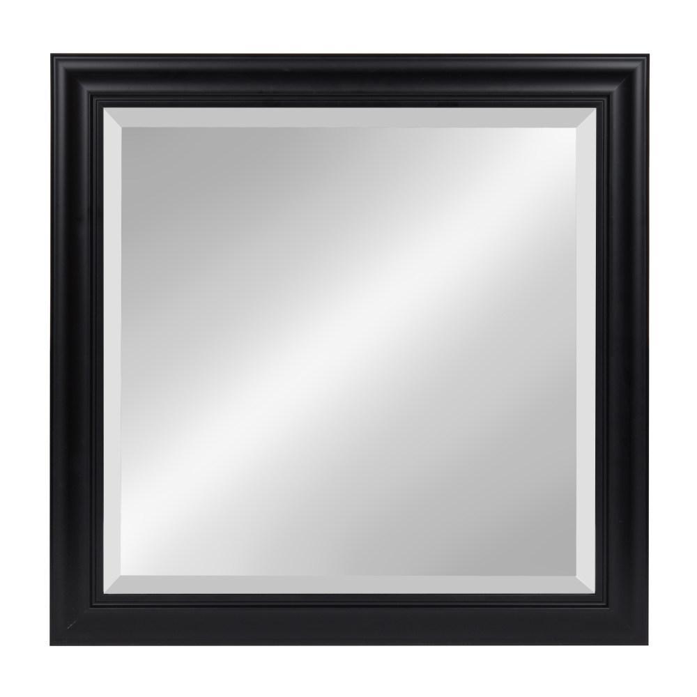 DesignOvation Dalat Rectangle Black Accent Mirror