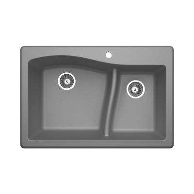 granite quartz composite gray 4 up swan kitchen sinks rh homedepot com