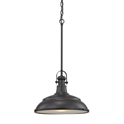 Blakesley Large 1-Light Oil Rubbed Bronze with Frosted Glass Pendant