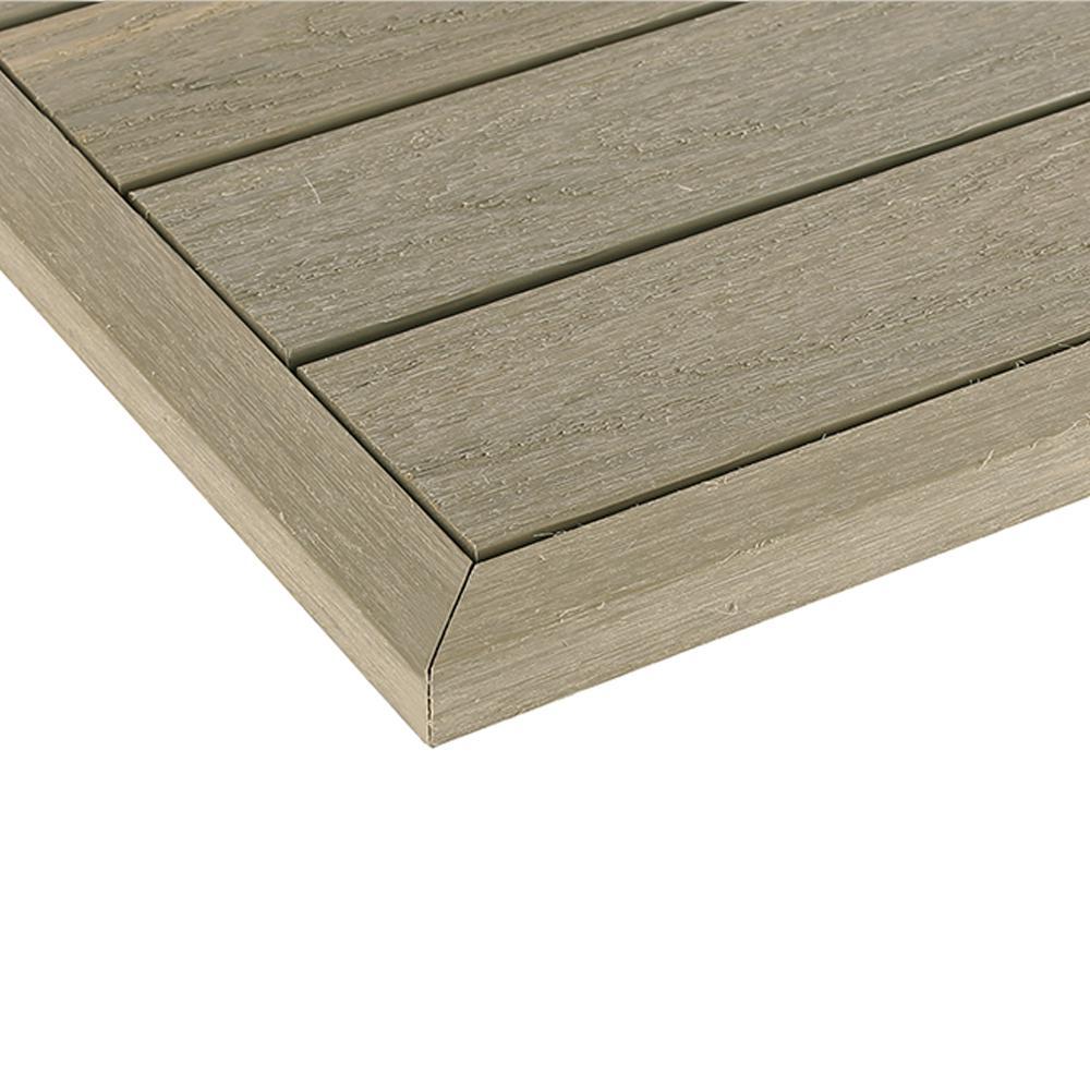 1/6 ft. x 1 ft. Quick Deck Composite Deck Tile Outside Corner Trim in Roman Antique (2-Pieces/Box)