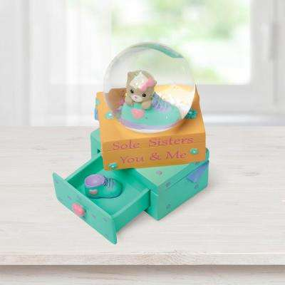Tabletop Snow Globe Resin/Glass Sole Sisters - You And Me Cat and Shoe Figurine