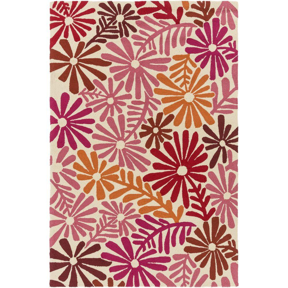 Artistic Weavers Bully Choop Hot Pink 3 ft. x 5 ft. Indoo...