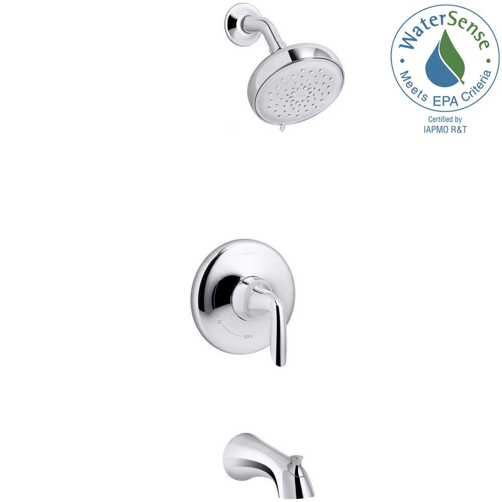 KOHLER Willamette Single Handle 3 Spray Tub and Shower Faucet in Polished  Chrome