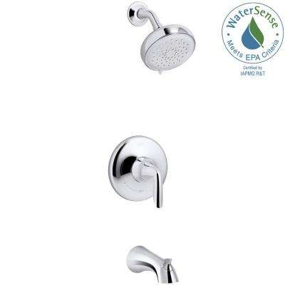 Willamette Single-Handle 3-Spray Tub and Shower Faucet in Polished Chrome (Valve Included)