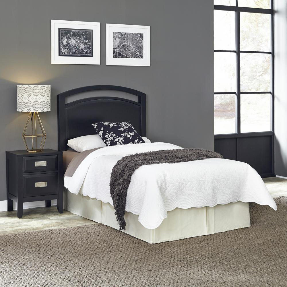 Prescott Black Twin Headboard