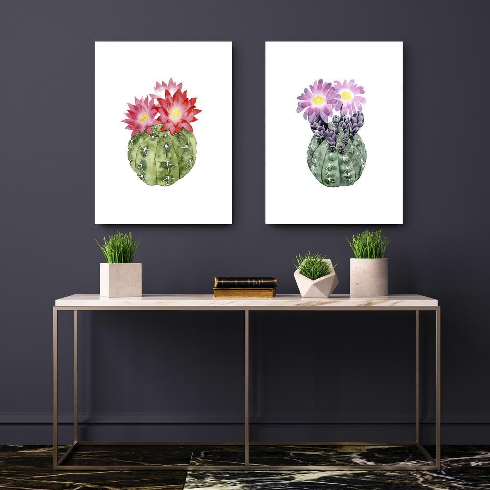 20 in. x 16 in. 'Cactus Bloom III' by Grace Popp Fine Art Wrapped Canvas Print Wall Art