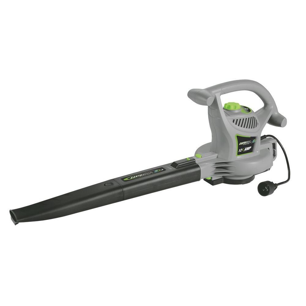 240 MPH 390 CFM 12 Amp Corded Leaf Blower/Vac