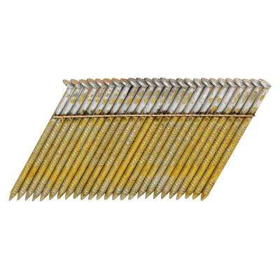 2-1/2 in. x 0.120-Gauge Wire 2M Galvanized Ring Shank Stick Collated Framing Nails 2000 per Box