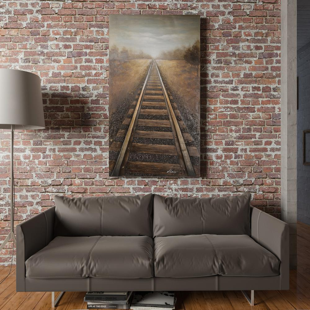 Yosemite Home Decor 66 In X 37 Vanishing Into The Distance Hand Painted Contemporary Artwork Dca091 Depot
