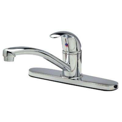 Single-Handle Standard Kitchen Faucet in Polished Chrome