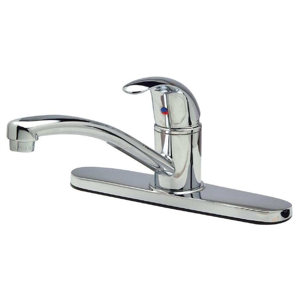 Zurn Single Handle Standard Kitchen Faucet In Polished