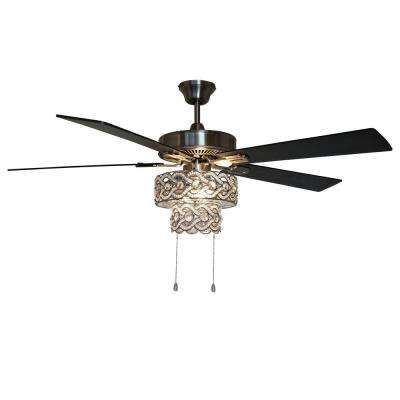 Demi Braid 52 in. LED Silver Ceiling Fan With Light