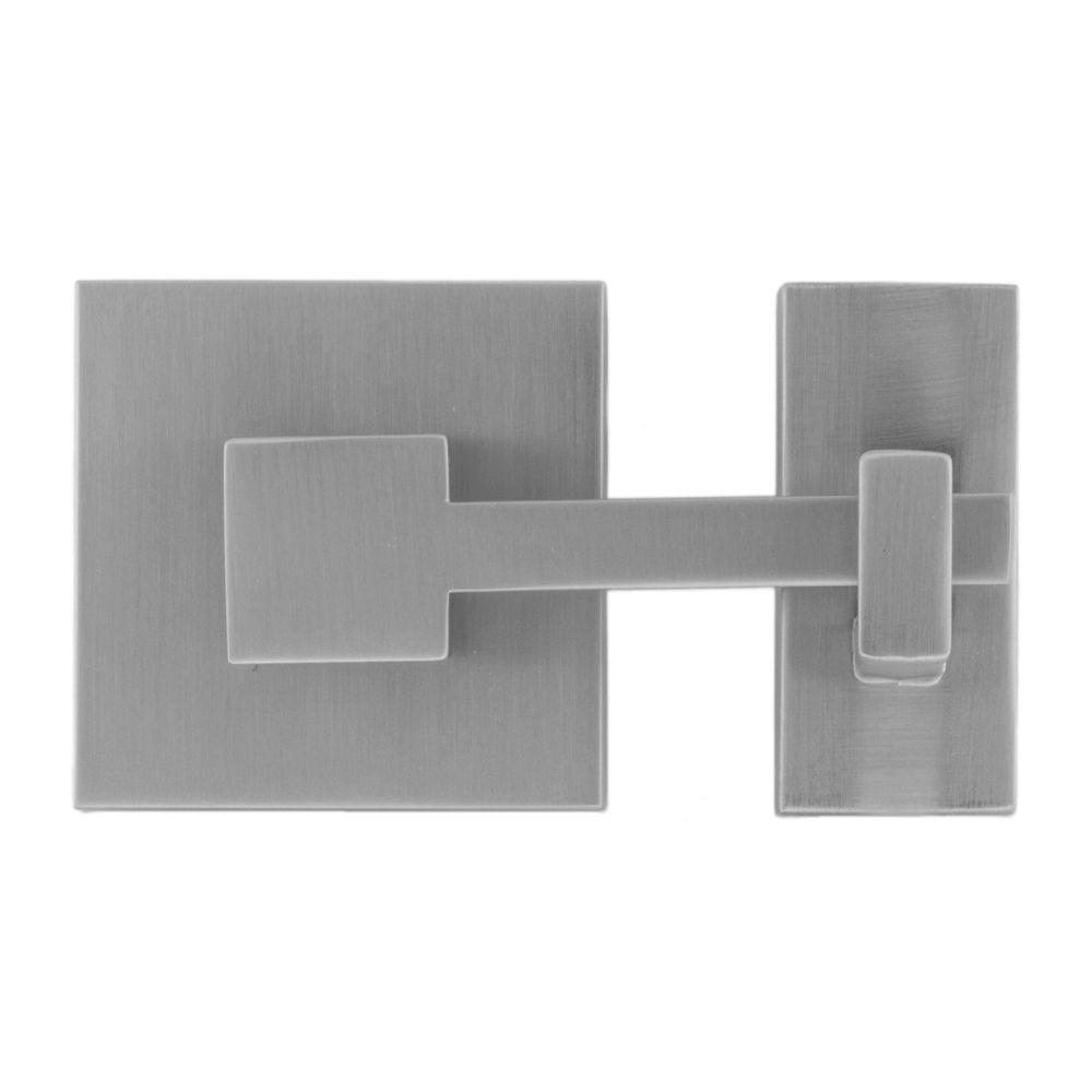 Rhombus 1 in. Satin Nickel Square Latch