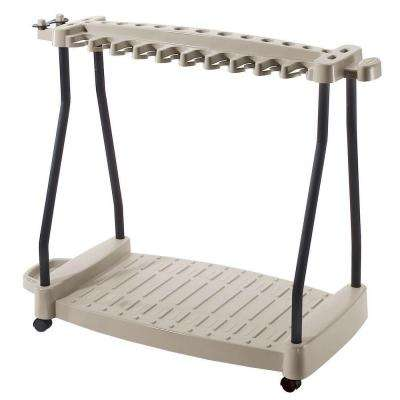 42 in. Resin Wheeled Tool Storage Rack