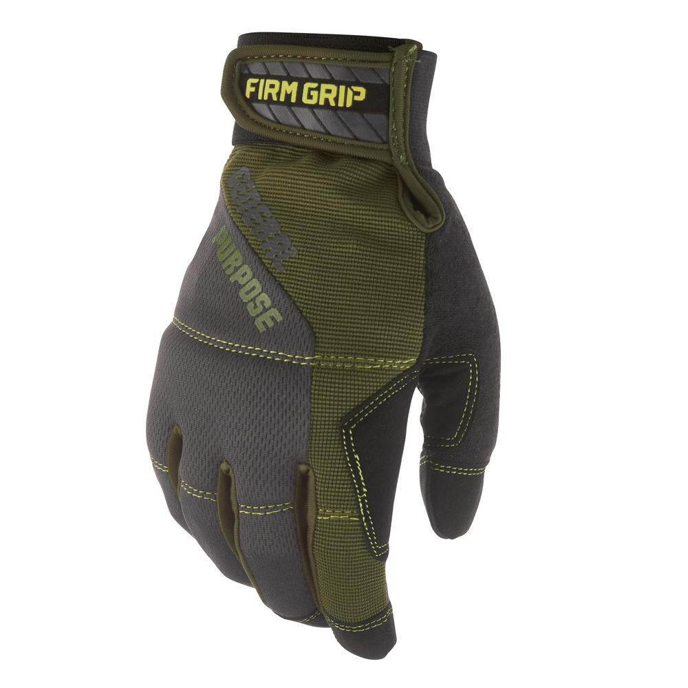 FirmGrip Firm Grip General Purpose Landscape Small Glove (1-Pair), Adult Unisex, Black