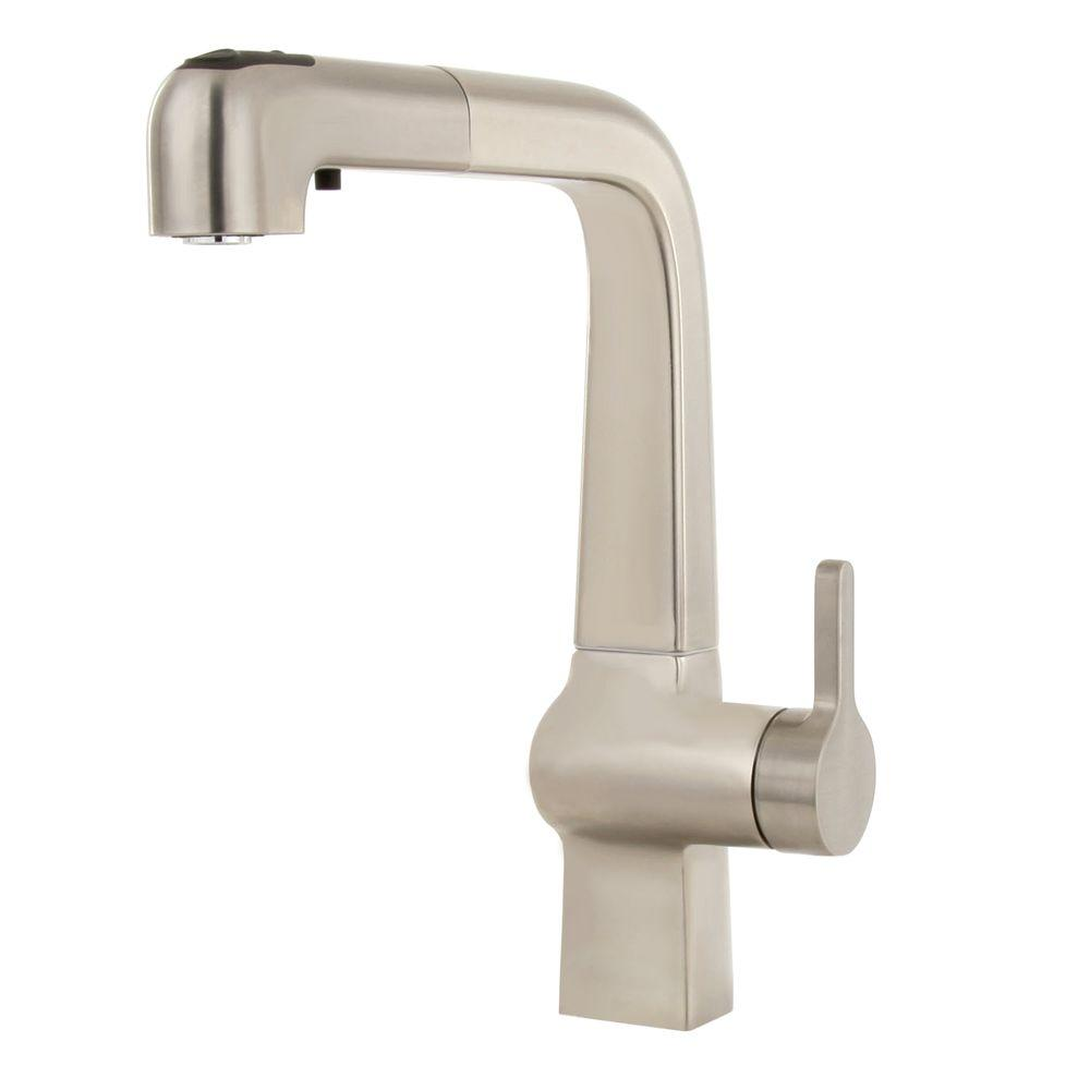 KOHLER Evoke Single-Handle Pull-Out Sprayer Kitchen Faucet in Vibrant Stainless Steel